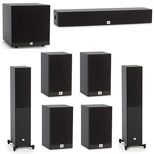 Amazing Deal JBL 7.1 System with 2 JBL Stage A170 Floorstanding Speakers, 1 JBL Stage A135C Center S...