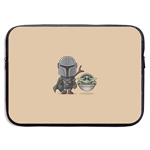Boba Fett and Master Yoda Laptop Sleeve Bag Tablet Fashion Briefcase Ultra Portable Protective Cover MacBook Air MacBook Pro Notebook Computer Sleeve Case 13 inch