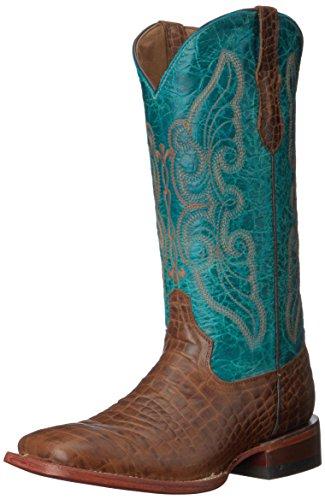Ferrini Women's Print Belly S-Toe Western Boot, Brown, 7 B US