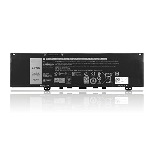 K KYUER F62G0 Batería para DELL Vostro 5370 D1525S D1505G R1605S D2505G Inspiron 13 7000 5370 7370 7373 7380 7386 Convertible Notebook P83G001 P83G002 F62GO CHA01 RPJC3 0RPJC3 39DY5 11.4V 38Wh