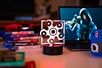 Six Siege LED Lamp - Hibana Operator - Rainbow Six Siege Decor and Nightlight in 7 Colors with Changing LED Options - for Gamers and Cosplay