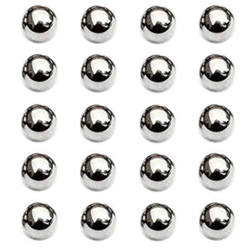 Nuluxi Kugellager Durchmesser 15mm Poliert Edelstahl Kugellager Runde Kugellager für Industrielle Druckfestigkeit und Abriebfestigkeit Präzisions Lager Ball Industrielle Lager-Stahlbälle (20 Stück)
