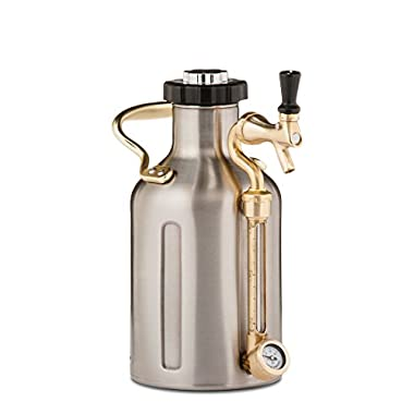 uKeg 64 Pressurized Growler for Craft Beer - Stainless Steel