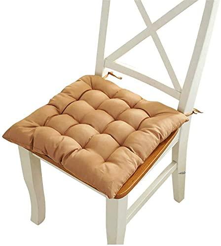 Set di 2 sedie da salotto per patio, semplice e quadrato, imbottito, con imbottitura in tinta unita, traspirante, per cucina, giardino, ufficio, sala da pranzo, poltrona per esterni
