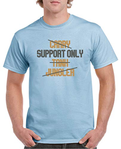 Comedy Shirts - Support Only - Herren T-Shirt - Royalblau/Hellbraun-Grau Gr. XXL