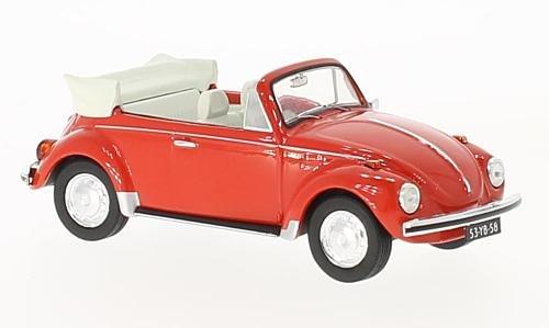 VW coccinelle cabriolet, rouge, 1973, voiture miniature, Miniature déjà montée, Premium X 1:43