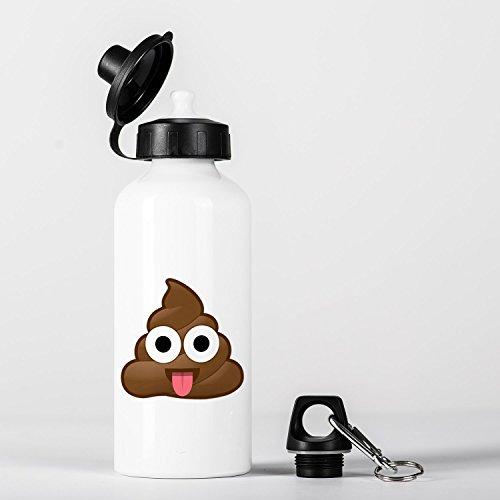 Poop Emoji with Tongue Botella de Aluminio Bottle