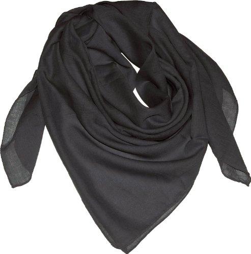 Harrys-Collection Damen Herren Baumwolltuch in vielen Farben 100 x 100 cm, Farben:schwarz, Größen:Einheitsgröße