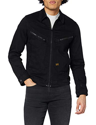 G-STAR RAW Mens Air Force Slim Denim Jacket, Pitch Black B479-A810, XXL