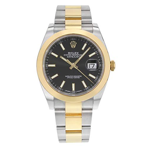 Rolex Datejust 41 126303 Negro Stick Dial en Oyster reloj de los hombres