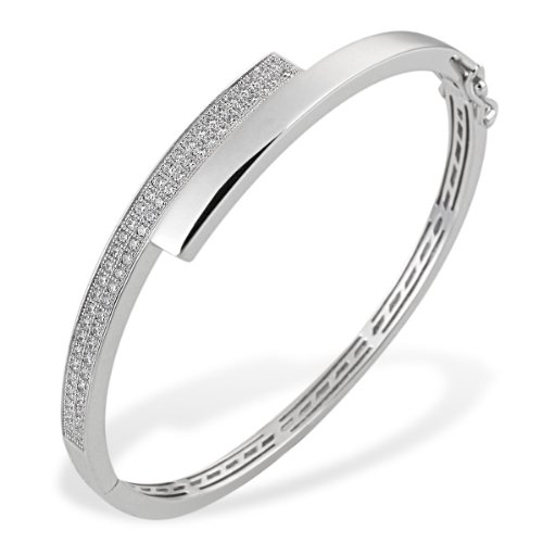 Goldmaid Damen-Armreif PremiumShine 925 Sterlingsilber 60 weiße Zirkonia
