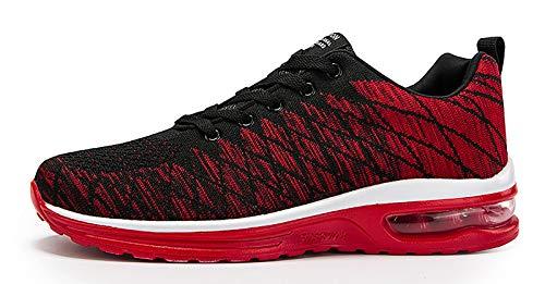 Zapatillas de deporte para hombre, running, running, running, running, running, trail, entrenamiento transpirable, fitness, tenis, al aire libre, gimnasio, Rojo (rojo), 36 EU