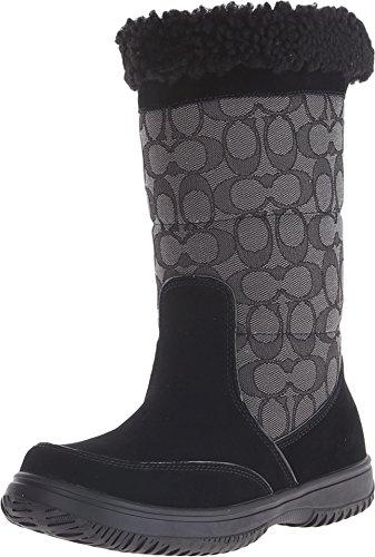 Coach Sherman Signature Cold Weather Boots, Black/Black Smoke, 6 US / 36 EU