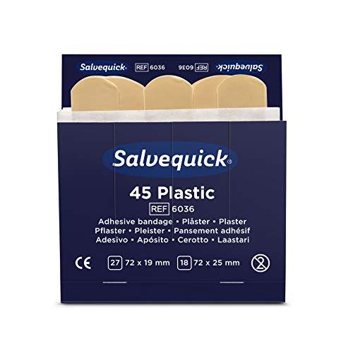 Salvequick ® | Wasserabweisende Pflaster | Hochwertig, leicht aufzukleben, flexibel und benutzerfreundlich | Auf Hautverträglichkeit getestet | 270 Pflaster pro Verpackung
