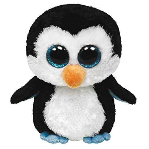 Oferta de Ty - Waddles, Peluche pingüino, 40 cm, Color Blanco y Negro (36803TY)