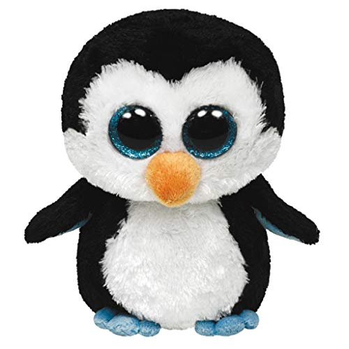 TY 7136803 - Waddles Boo X-Large - Pinguin schwarz/weiß, 42 cm, Beanie Boos, Glubschis