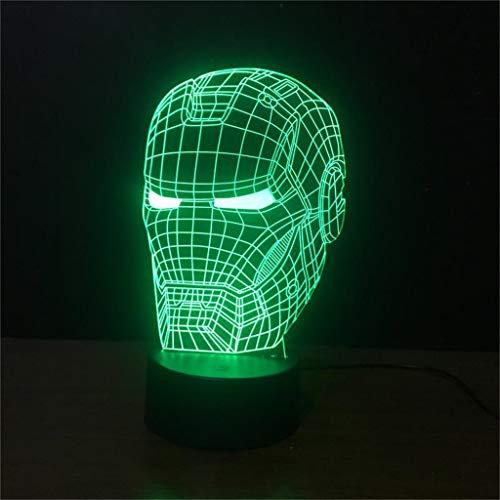 Z-HOMZYY 3D nachtlampje, fantoomlamp, led kleurrijke kleuren, tafellamp, bureau, wooncultuur, kantoor, slaapkamer, party, decoratieverlichting, verjaardagscadeau voor jongens (USB-oplaad)
