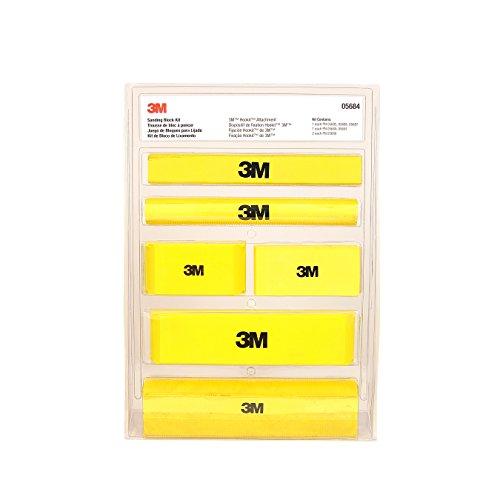 3M (5684 Hookit Sanding Block Kit,Various sizes