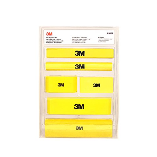 3M (5684 Hookit Sanding Block Kit,Various sizes