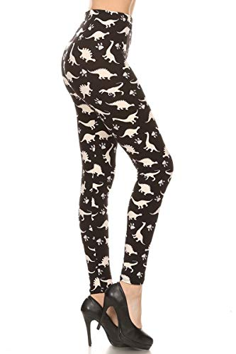 S767-3X5X Dinosaur World Print Fashion Leggings, 3X5X
