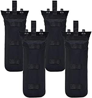 MASTERCANOPY Set of 4 Weights Bags with Pothook for Pop Up Portable Folding Canopy, Black