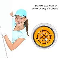ゴルフ マーカー 水平器 マグネット 水平器マーカー ゴルフ用品 ゴルフマーカー ボールマーカー パター練習 ボール 傾斜 (オレンジ)