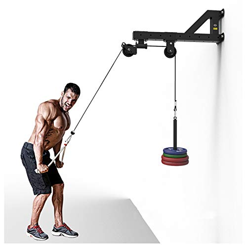 GJXJY Poleas Gimnasio Tríceps Máquina De Ejercicios Montado En La Pared Sistema De Poleas De Cable Montado En La Pared Muscular Entrenador De Fitness Integral