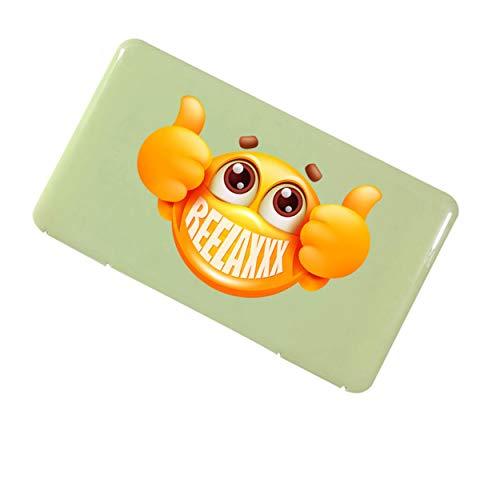 REELAXXX Maskenetui Aufbewahrungsbox aus Kunststoff für Maske, Schmuck, Karten und Zubehör, Kofferraumtasche, wasserdichte Falttasche kiste, masken-aufbewahrung Transportboxen (grün)