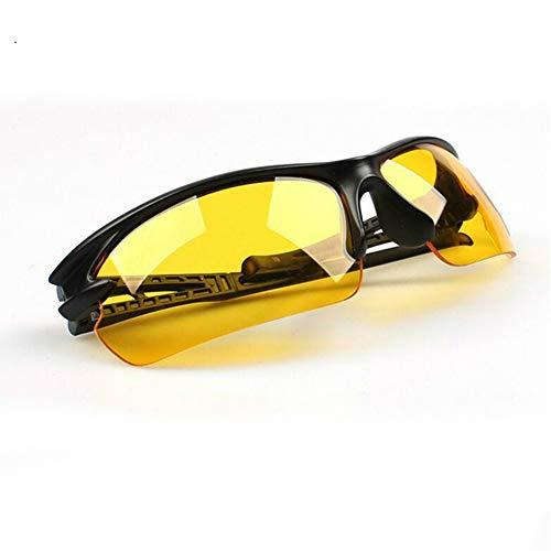 ERIOG Nachtsichtbrille Unisex Yellow Lenses Nachtsichtbrille HD Vision Sonnenbrille Autofahren UV-Schutz Sonnenbrille Polarisiert