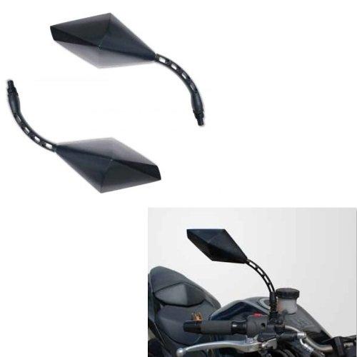 pour GILERA Eaglet 50 Paire DE MIROIRS DE Guidon RETROVISEUR pour Motocyclette Noir Far 7338+7339+KIT DE Montage M.8 10X1,25 Universel