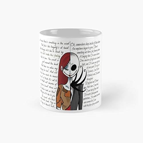 Taza clásica de Pesadilla antes de Navidad, el mejor regalo divertido tazas de café de 325 ml