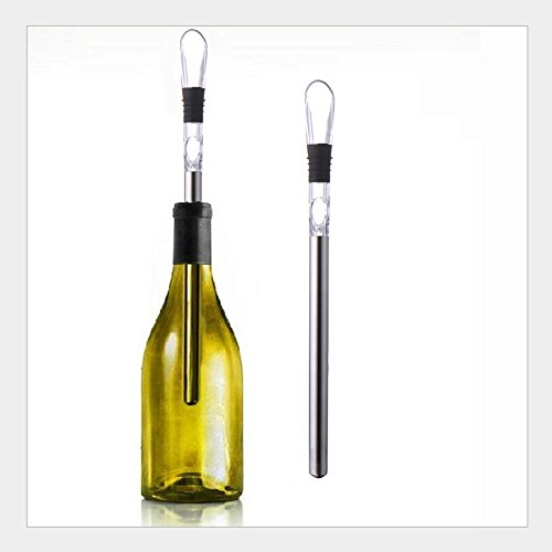 Molie airear de acero inoxidable 3en 1Vino Pourer y Decanter Boquilla Chiller Stick