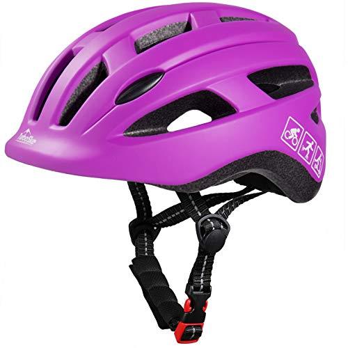 TurboSke Toddler Bike Helmet, CPSC Certified Multi-Sport Adjustable Helmet for Kids Boys and Girls Age 3-5 (S, Purple)