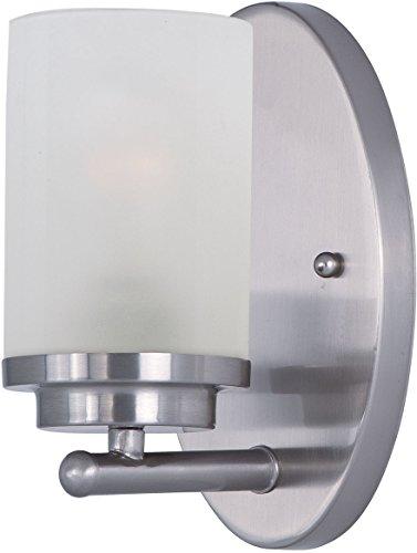 Maxim 10211FTSN Corona Frosted Glass Wall Sconce, 1-Light 60 Watt, 8