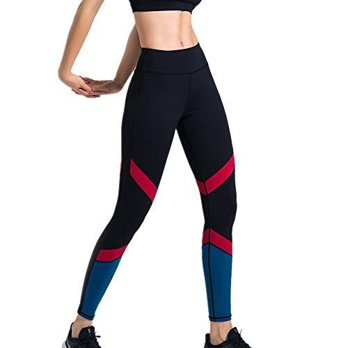 DSCX Leggings Femminili Pantaloni da Yoga Moda a Strisce Sport da Corsa Leggings da Yoga Elastici a Vita Alta di Grandi Dimensioni Nero M