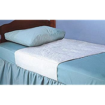 """Kleinert's Reusable Draw Sheet for Mattress. Comfort & Super Absorbency with Tuck-Tails Hold Pad in Place. 20"""" Tails On Each Side. 3 Layer Pad with Polyester Soaker & Waterproof Bottom. 34"""" X 36"""""""