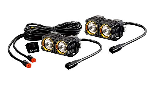 KC HiLiTES 268 FLEX LED Dual Spread Lighting System -Pair (Includes Switch and Wiring Harness with Waterproof Connectors)