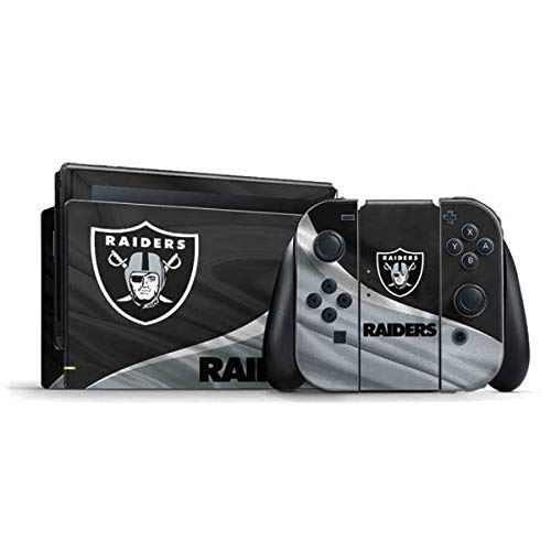 Skinit Decal Gaming Skin Compatible with Nintendo Switch Bundle - Officially Licensed NFL Las Vegas Raiders Design