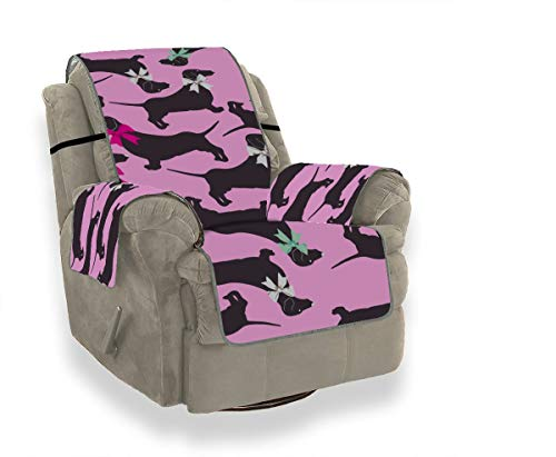 JEOLVP Niedliche Haustier Smart Animation Hund Dackel Liegestuhl Schonbezug Schonbezug Ohrensessel Schonbezug Stuhl Möbel Beschützer Für Haustiere, Kinder, Katzen, Sofa