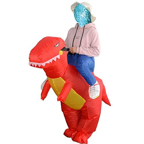 Harwls Ride on Dinosaurio - Disfraz Hinchable para Halloween, Fiesta, Rojo, Young Child