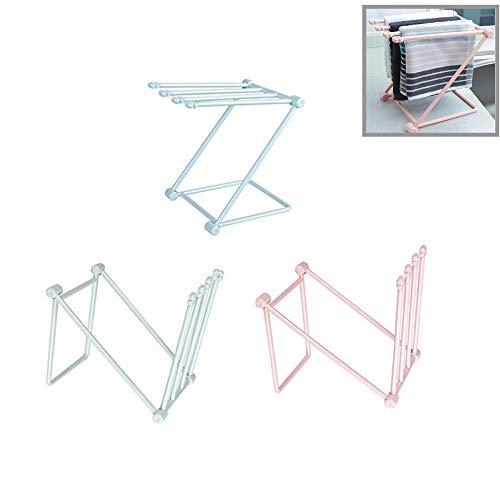 Rack de secado de toallas de plástico plegable vertical de 3 piezas...