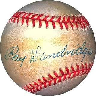 Ray Dandridge Signed Baseball - RONL Rawlings Official National League toned Hologram #DD64397 Millers Cubans) - JSA Certified