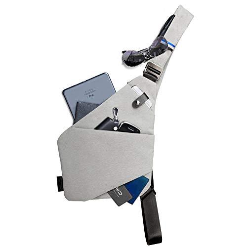 NIID-Fino Neo Sling Shoulder Crossbody Chest Bag Slim Backpack Multiuso Daypack (Gris...