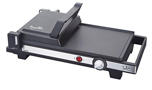 Jata GR269 Plancha de asar y grill con recubrimiento antiadherente, 2200 W, Parrilla, Negro