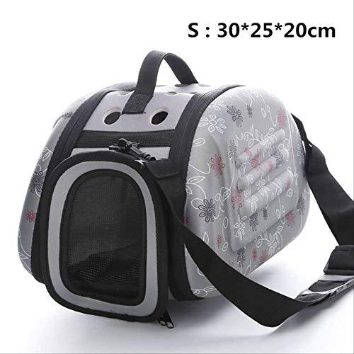 SHDS Dog Cat Carrier Bags Shoulder Package Portable Outdoor Travel Tote Shoulder Backpack Pet Carrier Bag Dog House Dog Kennel Silver