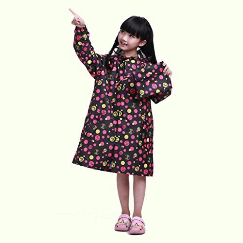 Vestes anti-pluie QFF Child Raincoat Boys and Girls Poncho Student Bébé Raincoat Protection de l'environnement sans goût (Couleur : A, Taille : S)