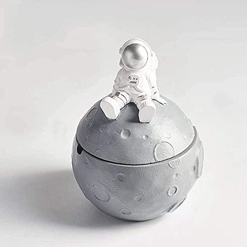 Cenicero de astronauta para exteriores en interiores, cenicero de escritorio para ahumar cenicero para decoración en el hogar, oficina, soporte para c...