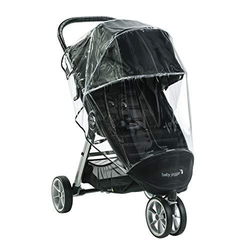Baby Jogger Wetterschutz für Die Einzelkinderwagen City Mini 2 mit 3 Rädern & City Mini GT2, hält Regen, Schnee und Wind Ab, Schwarz