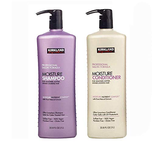 Kirkland Signature Professional Salon Formula Bundle - Includes Kirkland Signature Professional Moisture Shampoo (33.8 Oz) & Conditioner (33.8 Oz)