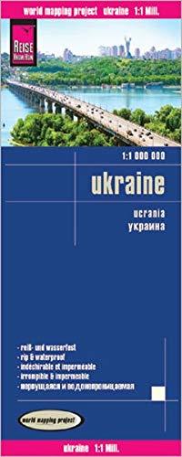 Ucrania, mapa de carreteras impermeable. Escala 1:1.000.000. Reise Know-How.: Kartenbild 2seitig, klassifiziertes Straßennetz, Ortsindex, ... imprägniert, Spezialpapier Polyart (11m)